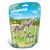 Educando Playmobil Línea Zoo Cebra Con Su Familia 6641