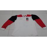 Camisa Flamengo Retrô Mundial 81 - #5 Junior Manga Longa