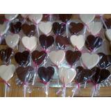 Paletas De Chocolate Forma Corazon O Redondas