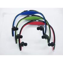 Mp3 Player Tipo Fone De Ouvido Sem Fio Wireless E Cartão 8gb