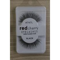 Cilios Postiços Red Cherry #747l O Par 100% Cabelo Humano