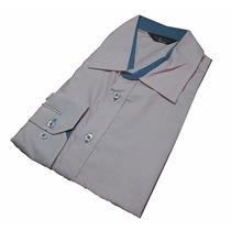 Camisa Social Masculina Slim Preta Rosa Branca Azul+ Barato