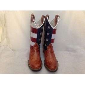 Bota Texana Feminina Bandeira Estados Unidos