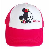 Gorra Para Niña Mimí, Mickey Mouse, Mabel, Dipper, Bordada.