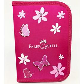Estojo De Material Escolar Faber Castell Com 18 Materiais