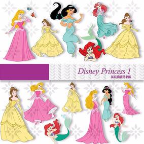 Kit Imprimible Princesas Disney 44 Imagenes Clipart