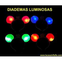 5 Diademas Luminosas De Mickey O Minnie Cumpleaños Fiestas