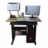 Escritorio De Vidrio / Mueble Para Computadora