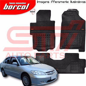 Tapete Borracha Interlagos Honda Civic 2004 2005 Borcol 3 Pç