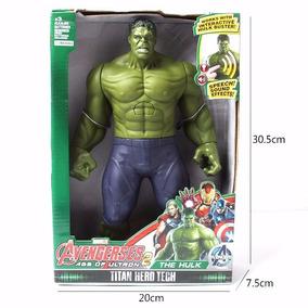 Boneco Hulk Grande Importado 30cm Emite Som E Luz De Led