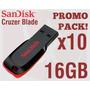 Pen Drive 16gb Sandisk Blade Cz50 Ultimo Modelo Pack 10u