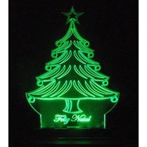 Luminária-enfeite Acrílico Com Led Arvore De Natal