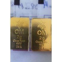 Barra Ouro 24k 2 Gramas Lacrado Certificado Em 12x Sem Juros