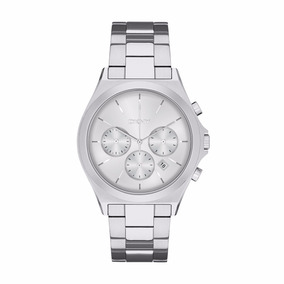 Reloj Dkny Man Ny2378 Plateado Cronogr Original Envío Gratis