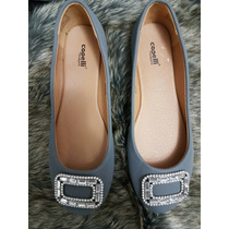 Zapatos Capelli New York Talla 4 Estoperoles Gris Dama Mujer