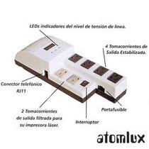 Estabilizador De Tensión Atomlux R1000 6 Tomas+ Internet