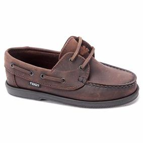 Zapato Náutico Cordón Toot Colegial Cuero Escolar 27 Al 33
