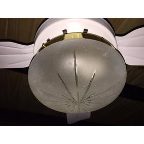 Plafon Esmerilado 1 Lampara P/ Ventilador De Techo - Rosari