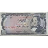 Colombia 100 Pesos 20 Jul 1974 Bgw306 Reposicion R