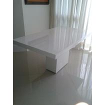 Mesa De Resina Branca Modelo Verona 2.20 X 0.90