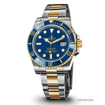 Relogio Submariner Misto Ouro Azul C/ Caixa Manual E Certif