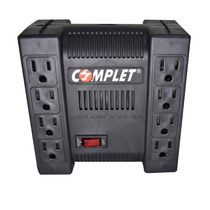 Complete Regulador Voltaje Supresor Picos 8 Contactos 1300va