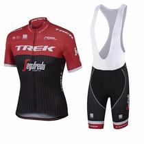 Uniforme De Ciclismo Trek 2017 Jersey + Short Bib, Bici Ruta