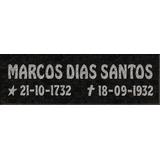 Placa P/ Túmulo Lapide Jazigo Granito Ou Marmore 10x30cm
