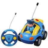Cartoon R / C Toy De Control De La Policía Radio De Coche Pa
