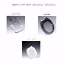 Assento Sanitário Acrílico Vaso Banheiro -alta Durabilidade