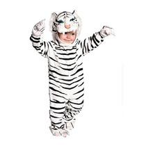 Disfraz Bebe Tigre Blanco Niño Y Niña Traje
