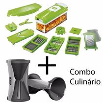 Nicer Dicer Multi Peças + Descascador Aspiral De Legumes Top