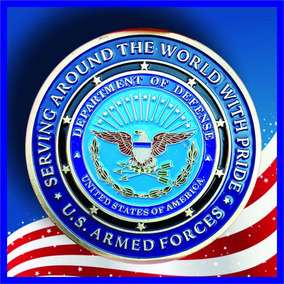 Medalha Forças Armadas Us - Poker Guard Protetor De Cartas