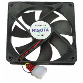 Ventilador Nisuta 120x120x25mm Buje 1200rpm 12v Nsfan120