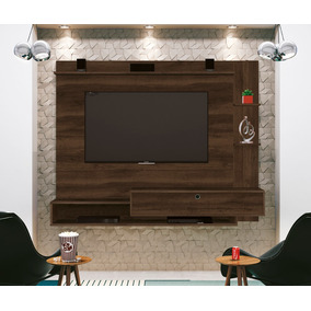 Painel Para Tv Fluence Noce Rustico - Edn Móveis