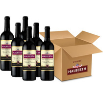 Vinho De Mesa - Halberth Tinto Suave Bordô 6x750ml