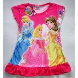 Camison Vestido Disney Princesas Para Bebas Fucsia
