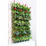Maceta Plástica Apilable Jardín Vertical Muro Paisajismo 1m2