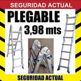Escalera Metalica Plegable Doble 1,14 + 1,14 Mts 1 Hoja 3,98