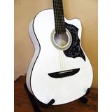 Guitarra Acustica Importada Blanca En Metal O Nylon