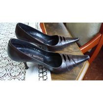 Zapatos De Tacón Cafe. Marca Lady Emico .