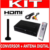 Kit Conversor Tv Digital Gravador H D M I + Antena