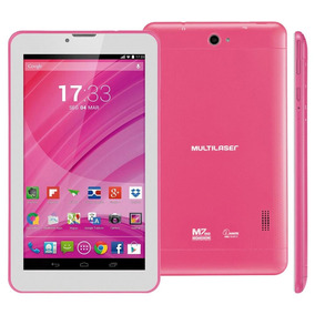Tablet Multilaser M7 3g Rosa 8gb 2mp Android 4.4 2 Chip