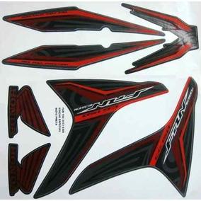Kit Jogo Adesivo Moto 150 Fan Esdi 2013 Especial Preta 1109