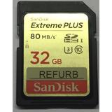 Sandisk Extreme Plus 32gb 80/mbs Sdhc Nueva Refurbished