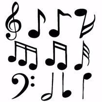 Adesivo Decorativo De Parede Notas Musicais 55 Unidades
