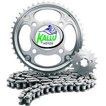 Kit Relação Protork Para Nx 125 Bros Kallu Motos