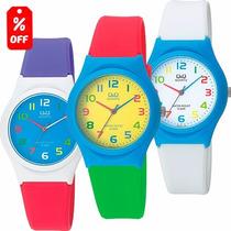 Reloj Q & Q - Resistencia Al Agua - Varios Colores - Cfmx