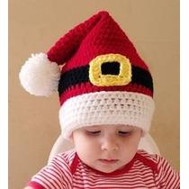 Gorrito Tejido De Santa Claus, Bebes, Niños Y Adultos