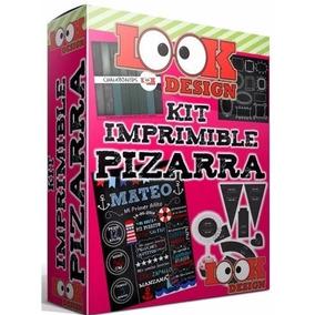 Kit Imprimible Pizarras Pizarrón Candy Bar Tiza Editable